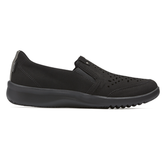 Emalyn Twin Gore Slip On, BLACK