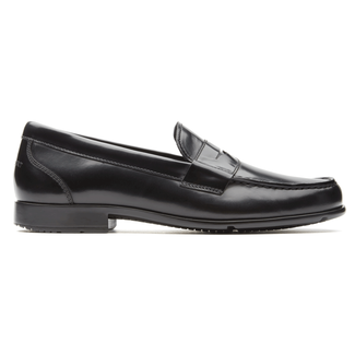 Barnaby Lane Penny Loafer Comfortable Men's Shoes in Black
