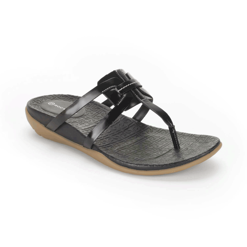truJoris Interwoven Thong Women's Sandals in Black