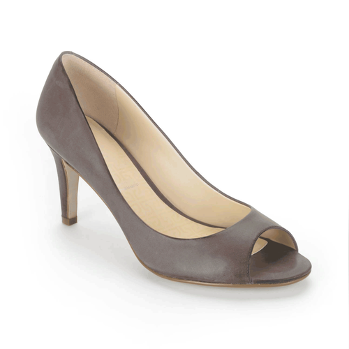 Lendra Peep Toe Pump Women's Pumps in Grey