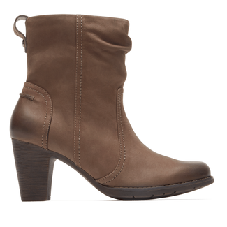 Kristen Side Zip Bootie Cobb Hill by Rockport in Brown