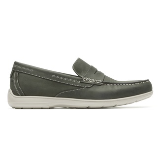 Total Motion Penny Loafer Comfortable Men's Shoes in Grey