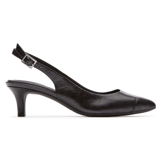 Total Motion Kalila Slingback Comfortable Women's Shoes in Black