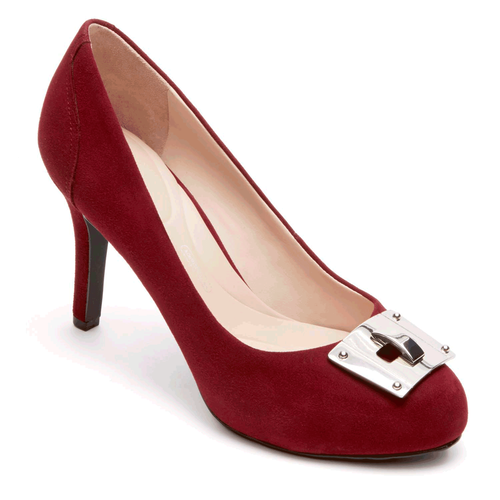 Seven to 7 Key Lock Pump Women's Heels in Red