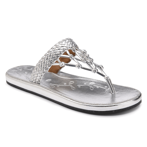 Zolina Woven Thong Women's Sandals in Grey