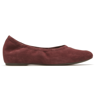 Total Motion Ruch Luxe Slip On , MERLOT SUEDE