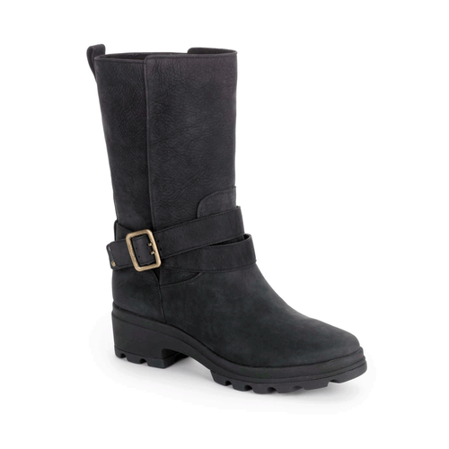Lorraine II Lite Buckle Mid Boot, Women's Black Boots