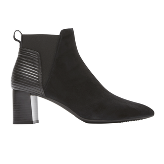Total Motion Salima Bootie, BLACK SUEDE