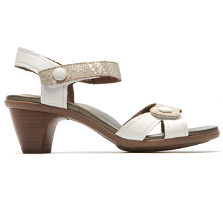 Medici Mila Adjustable Sandal in White
