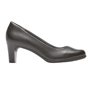 Total Motion Melora Plain Pump, BLACK LEATHER WP
