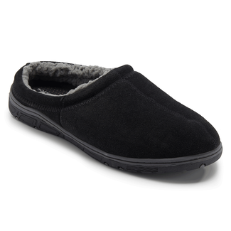 Genuine Suede Clog Slipper Men's Slippers in Black