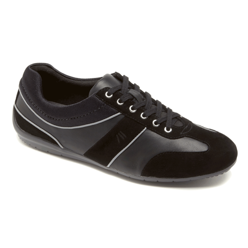 Total Motion T-Toe Lace Up Women's Sneakers in Black