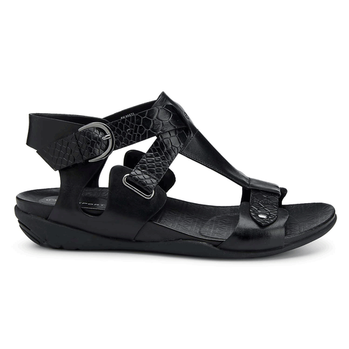 truJoris Buckle T Strap Women's Sandals in Black