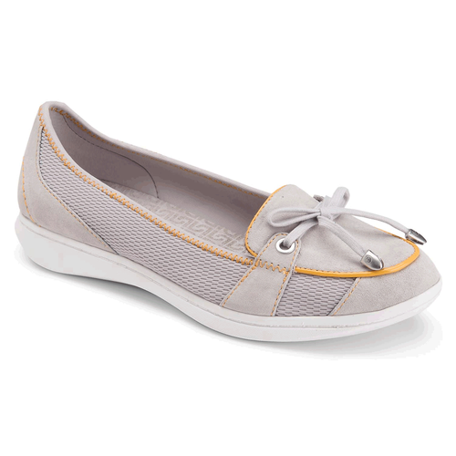 Yezenia Bow Tie Slip On Women's Flats in Grey