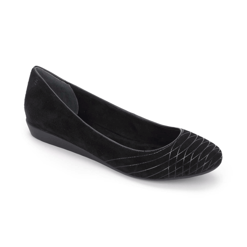 Shehera Welded Ballet, Women's Black Flats