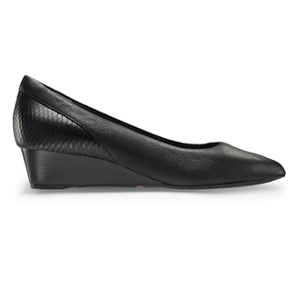 Total Motion Annett Pieced PumpRockport Women's Black Total Motion Annett Pieced Pump