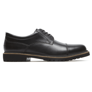 Marshall Captoe Oxford Comfortable Men's Shoes in Black