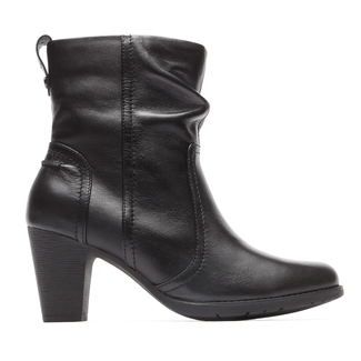 Kristen Side Zip Bootie Cobb Hill by Rockport in Black