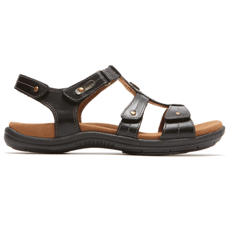 REVsoothe T Strap Sandal Cobb Hill by Rockport in Black