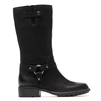 First St. Moto Boot - Women's Black Burnished Boots