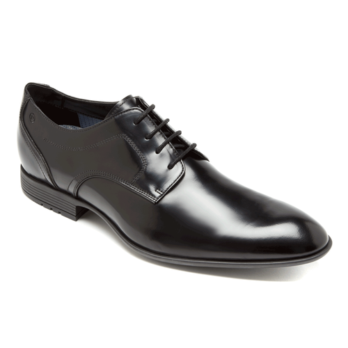 Dialed In Plain Toe - Men's Balck Dress Shoes