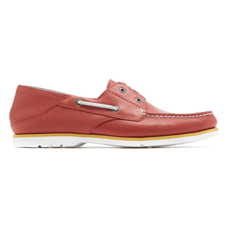 Summer Tour 2 Eye Slip Men's Boat Shoes in Red