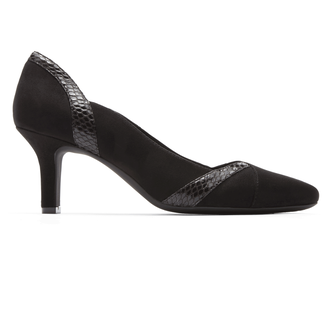 Sharna Blocked Pump in Black
