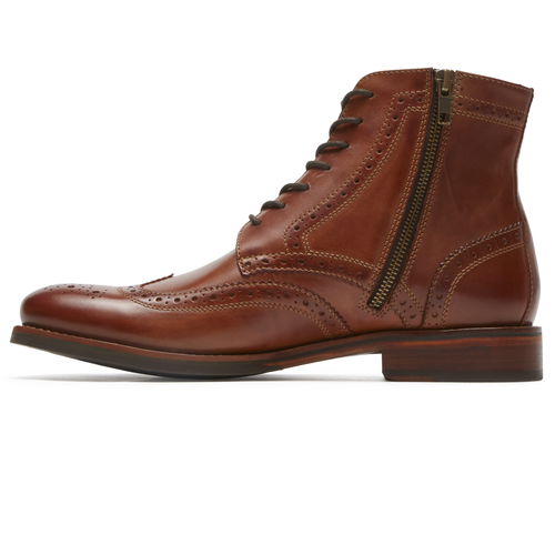 Wyat Wingtip Boot, COGNAC LEATHER