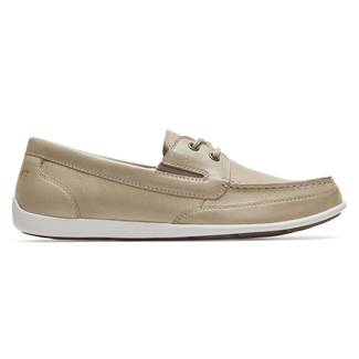 Bennett Lane IIII Boat Shoe Comfortable Men's Shoes in Grey
