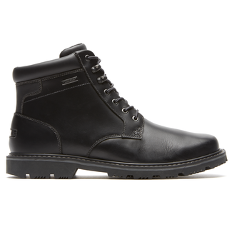 Gentlemen's Waterproof Mid Plaintoe Boot, BLACK