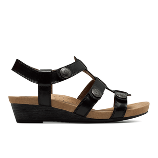 Cobb Hill Harper Adjustable Sandal, BLACK