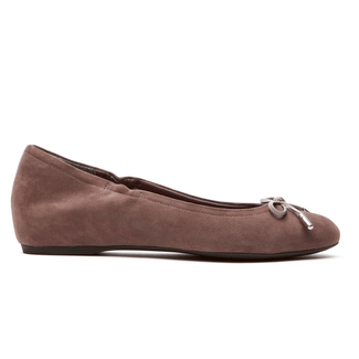 Total Motion Hidden Wedge Tied Ballet in Brown