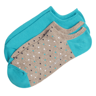 Women's No Show Athletic Socks, TEAL MULTI