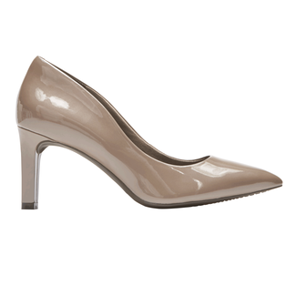 Total Motion Valerie Luxe Pump, TAUPE GREY PEARL PATENT