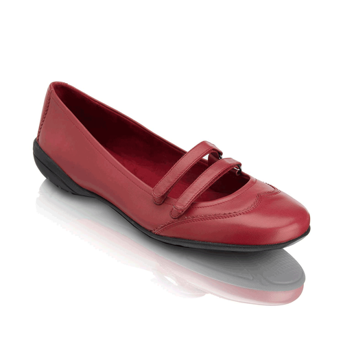Laura Mary Jane Women's Flats in Red