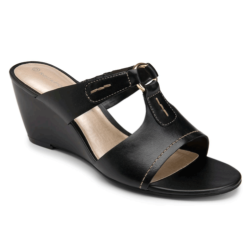 Nicoleen O Ring Slide Women's Sandals in Black