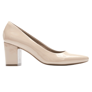 Gail Pump, WARM TAUPE PATENT