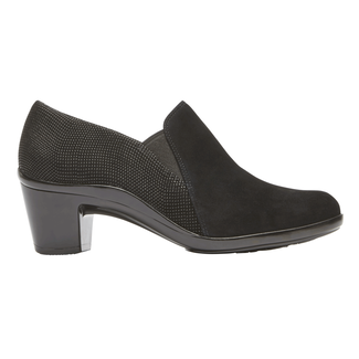 Lexee Twin Gore Heel, BLACK SUEDE MULTI