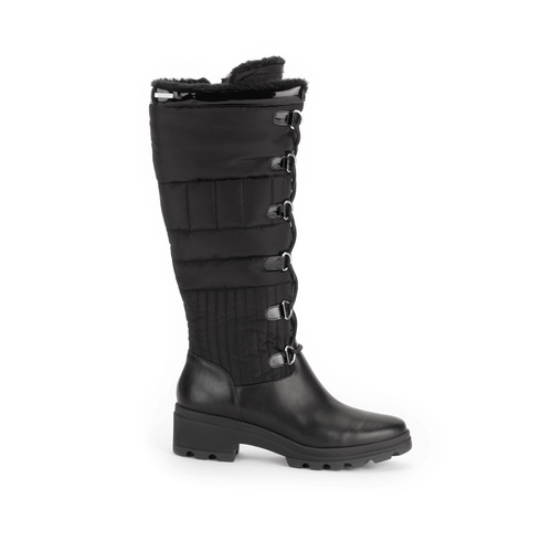 Lorraine II Lite Tall Laceup Boot, Women's Black Boots