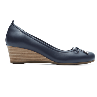 Total Motion Tied WedgeRockport Women's Navy Total Motion Tied Wedge