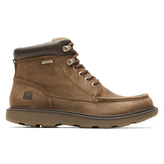 Boat Builders Waterproof Moc Toe BootRockport Men's Tan Boat Builders Waterproof Moc Toe Boot