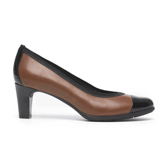Total Motion Melora Captoe Pump in Brown