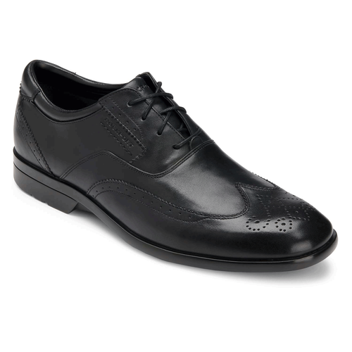 Business Lite Wingtip Men's Dress Shoes in Black
