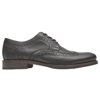 Wyat Wingtip Oxford, BLACK