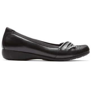 Abbey Andrea Flat in Black