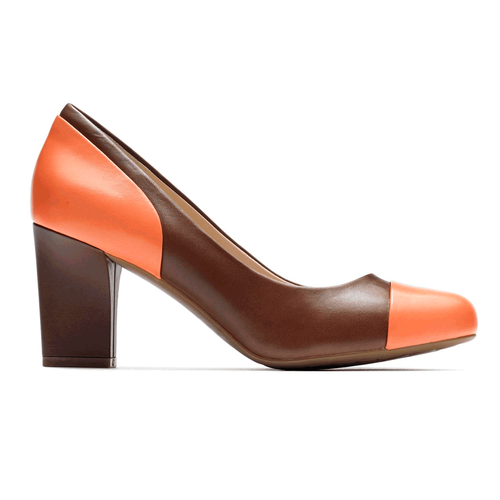 Seven to 7 Color Block Pump - Women's Brown Heels
