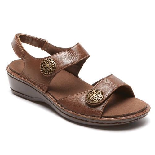 Cambridge Candace Adjustable Sandal in Brown