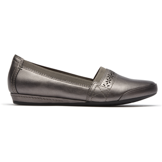 Gigi Slip On Cobb Hill by Rockport in Grey