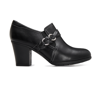 City Casuals Catrina Braid Bootie, MAIN BLACK LTHR