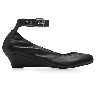 Alika Anklestrap Women's Flats in Black